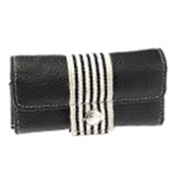 Krusell Breeze UNIVERSAL Leather Pouch - Black and White  95187