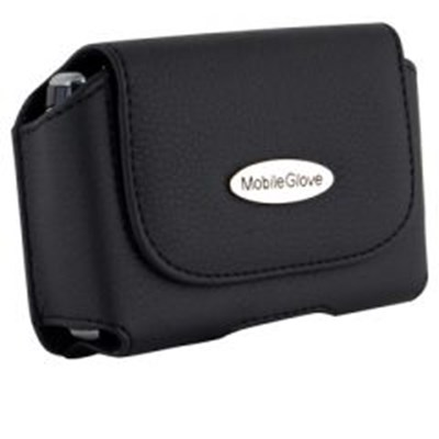 Universal MobileGlove Luxus Horizontal Leather Holster with Stationary Belt Clip - Black    LUH8700BK