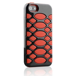 Apple Compatible HyperGear SciFi Dual-Layered Protective Cover - Red and Black 12311-nz