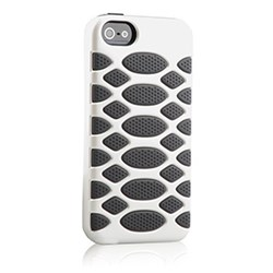 Apple Compatible HyperGear SciFi Dual-Layered Protective Cover - White and Grey 12314-nz