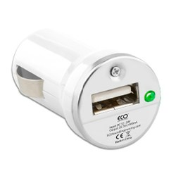 Eco Universal Single USB Vehicle Charger 1 Amp - White  12592-NZ