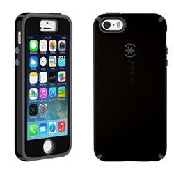 Apple Compatible Speck CandyShell Rubberized Hard Case with FacePlate - Black and Slate Grey  SPK-A2487