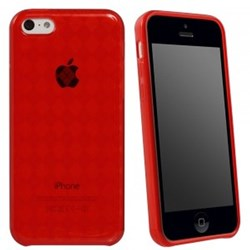 Apple Compatible Solid Color TPU Case - Red TPU5CRD