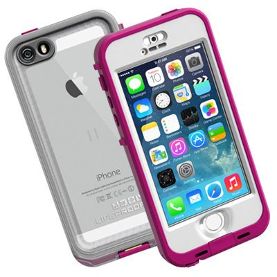 Apple Compatible Lifeproof Nuud Waterproof Case - Blaze Pink and Clear  2105-03-LP 40134a198af8
