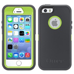 Apple iphone 5/5s Compatible Otterbox Defender Rugged Interactive Case and Holster - Key Lime 77-33328