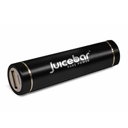 Juicebar Powertube High Capacity Portable Battery Charger (2600 Mah) - Black JB-11535