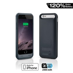 Apple Compatible Naztech MFi Power Case with Kickstand for iPhone 6 - Black  13157-NZ