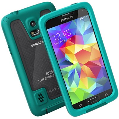 release date: 9cef3 58a4d Samsung Galaxy S5 LifeProof fre Rugged Waterproof Case - Teal and ...