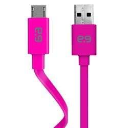 Puregear 48 inch Charge-sync Flat Cable Micro Usb Cord - Pink