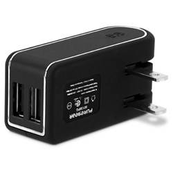 Puregear 4.8a Dual Usb Travel Charger (provides 2.4a Per Port) (24w) - Black - Retail Packaged
