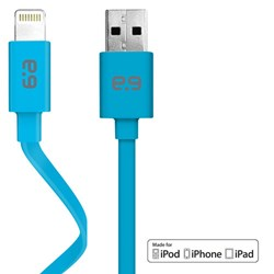 Apple Certified Puregear Charge-sync Flat 48 Inch Cable - Blue  60726PG