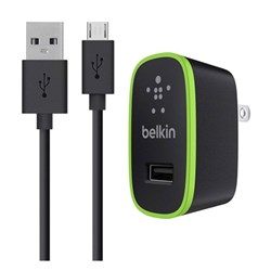 Belkin Mixit 2.1 Amp Travel Charger Adapter With 4 Foot Mixit Micro Usb Cable - Black