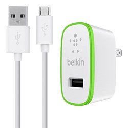 Belkin Mixit 2.1 Amp Travel Charger Adapter With 4 Foot Mixit Micro Usb Cable - White