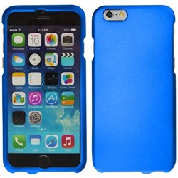 Apple Compatible Rubberized Snap On Hard Cover - Blue  IPH6-BL-RP
