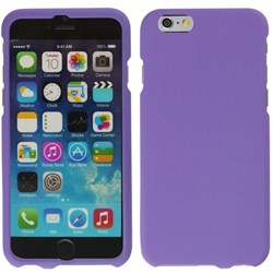 Apple Compatible Rubberized Snap On Hard Cover - Purple  IPH6-PU-RP