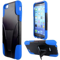 Apple Compatible Dual Layer Cover with Kickstand - Blue  IPH6PLUS-BL-1HYB