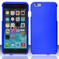 Apple Compatible Rubberized Snap On Hard Cover - Blue  IPH6PLUS-BL-1RP