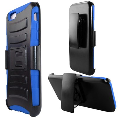 Apple Compatible Armor Style Case with Holster - Blue and Black  IPH6PLUS-BLBK-1AM2H