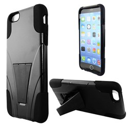 Apple Compatible Dual Layer Cover with Kickstand - Black  IPH6PLUS-BLK-1HYB