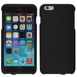 Apple Compatible Rubberized Snap On Hard Cover - Black  IPH6PLUS-BLK-1RP