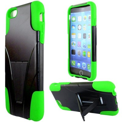 Apple Compatible Dual Layer Cover with Kickstand - Neon Green  IPH6PLUS-NGR-1HYB