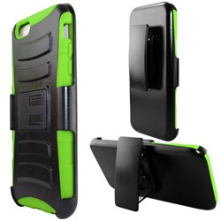 Apple Compatible Armor Style Case with Holster - Neon Green and Black  IPH6PLUS-NGRBK-1AM2H