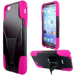 Apple Compatible Dual Layer Cover with Kickstand - Pink  IPH6PLUS-PK-1HYB