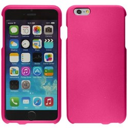 Apple Compatible Rubberized Snap On Hard Cover - Pink  IPH6PLUS-PK-1RP