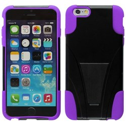 Apple Compatible Dual Layer Cover with Kickstand - Purple  IPH6PLUS-PU-1HYB