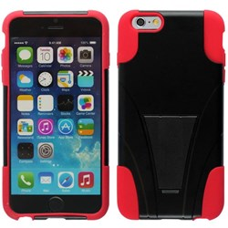 Apple Compatible Dual Layer Cover with Kickstand - Red  IPH6PLUS-RD-1HYB