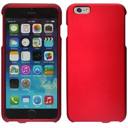 Apple Compatible Rubberized Snap On Hard Cover - Red  IPH6PLUS-RD-1RP