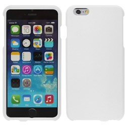 Apple Compatible Rubberized Snap On Hard Cover - White  IPH6PLUS-WH-1RP
