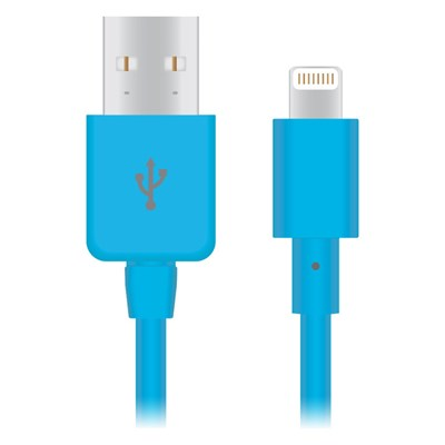 Apple Compatible Naztech Lightning MFi 4 foot Charge and Sync Cable - Blue  13218-NZ