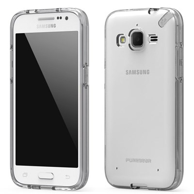 uk availability 778cf ff699 Samsung Galaxy Prevail LTE Compatible Puregear Slim Shell Case - Clear and  Clear 61031PG