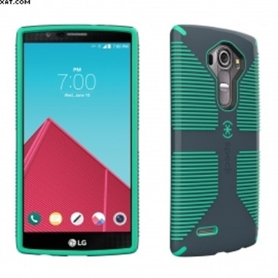 low priced 4a9ed bf0a9 LG G4 Speck CandyShell Grip Case - Charcoal Gray and Dragon Green SPK-A4081