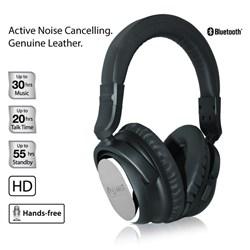 NoiseHush i9 Bluetooth Active Noise-Cancelling Headphone - Black