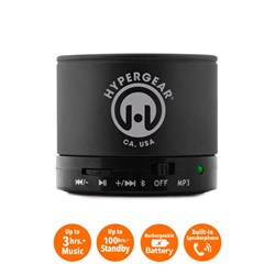 HyperGear MiniBoom Wireless Speaker with Built-in FM Radio- Black  13211