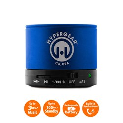 HyperGear MiniBoom Wireless Speaker with Built-in FM Radio- Blue  13215