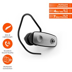 HyperGear V360 Wireless Headset - Grey  13266-NZ