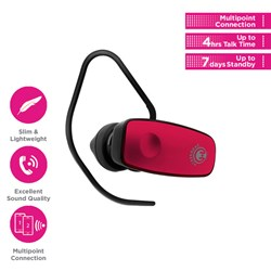 HyperGear V360 Wireless Headset - Pink  13303-NZ