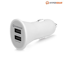 HyperGear Dual USB 2.4A Vehicle Charger - White