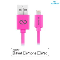 Apple Compatible Naztech Lightning MFi 6 foot Charge and Sync Cable - Pink  13499-NZ