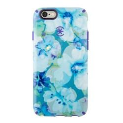 Apple Speck Candyshell Inked Case - Aqua Floral Blue and Ultra Violet Purple  73804-C140