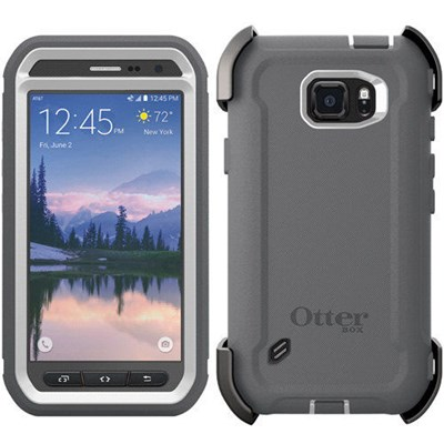 Samsung Galaxy S6 Active Otterbox Defender Rugged Interactive Case And Holster Glacier 77 51783