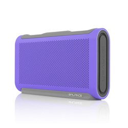 Braven Balance Portable Bluetooth Speaker, Charger and Speakerphone - Perwinkle Purple and Gray  BALPGG
