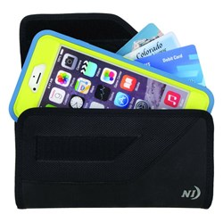 Nite Ize Sideways Velcro Clip Pouch - Fits Most Smartphones With Or Without Form Fit Cases (xxl) - Black