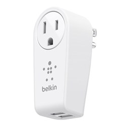 Belkin Boostup 2.4 Amp Dual Port Usb Swivel Travel Charger Adapter - White  F8M102TT