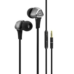 Cellet Universal Flat Wire Stereo Handsfree With Built-in Microphone - Black