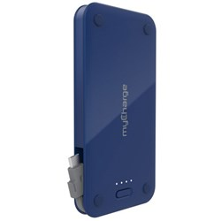 Mycharge 3000mAh Style Power Micro Rechargeable Backup Battery With Built In 1a Micro Connector - Navy Metallic