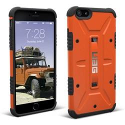 Apple Compatible Urban Armor Gear Composite Hybrid Case - Rust and Black  UAG-IPH6PLS-RST